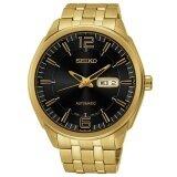 โปรโมชั่น Seiko Jumbo Size Automatic Men S Watch สายสแตนเลสสีทอง รุ่น Snkn48K1 สีทอง สีดำ Seiko