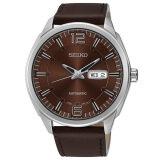 ราคา ราคาถูกที่สุด Seiko Men Retro Classic Automatic Watch รุ่น Snkn49K1 สีเงิน สีน้ำตาล
