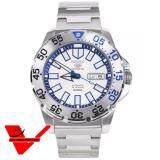 ราคา Seiko Mini Monster Autometic นาฬิกาข้อมือผู้ชาย สายสแตนเลส รุ่น Srp481K1 สีขาว