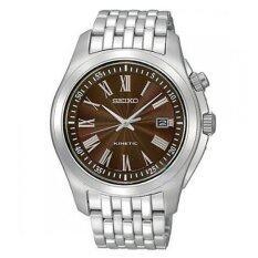 ราคา Seiko นาฬิกาข้อมือ Kinetic Classic รุ่น Ska491P1 สีเงิน น้ำตาล ใหม่ ถูก