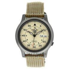 ขาย Seiko นาฬิกาข้อมือผู้ชาย สีเบจ สายผ้า รุ่น Seiko 5 Snk803K2 Seiko ถูก
