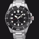 ราคา Seiko นาฬิกาผู้ชาย Prospex Solar 200M Divers รุ่น Sne437P1 Black Seiko