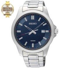 ซื้อ Seiko Neo Classic นาฬิกาข้อมือผู้ชาย สายสแตนเลส หน้าฟ้า รุ่น Sur243P1 สีเงิน สีฟ้า ออนไลน์