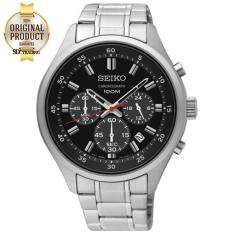 Seiko Neo Sport นาฬิกาข้อมือผู้ชาย Chronograph สายสแตนเลส หน้าดำ รุ่น Sks587P1 Seiko ถูก ใน Thailand