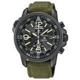 ซื้อ Seiko Prospex Solar Chronograph นาฬิกาข้อมือผู้ชาย สีดำ สีเขียว สายผ้า รุ่น Ssc295P1 ถูก ใน Thailand