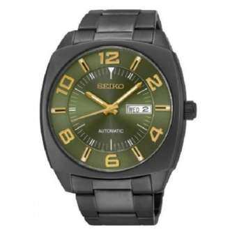 Seiko นาฬิกาข้อมือชาย Retro Classic Automatic 45mm Black IP Green SNKN35K1
