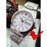 โปรโมชั่น Seiko Sapphire Glass นาฬิกาข้อมือชาย สายสแตนเลส รุ่น Sgg713P1 สีขาว Seiko
