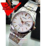 โปรโมชั่น Seiko Sapphire Glass นาฬิกาข้อมือผู้ชาย สายสแตนเลส รุ่น Sgg719P1 สีขาว ทอง ถูก