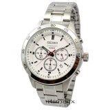 ราคา Seiko นาฬิกาข้อมือผู้ชาย สีเงิน สายสแตนเลส รุ่น Sks515P1 Seiko เป็นต้นฉบับ