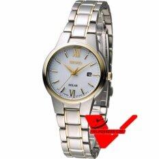 ส่วนลด สินค้า Seiko Solar นาฬิกาข้อมือผู้หญิง สายสแตนเลส 2 กษัตริย์ รุ่น Sut230P1