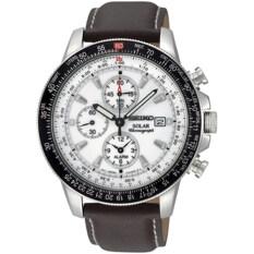 ราคา Seiko Solar Alarm Flightmaster Watch Brown รุ่น Ssc013P1 บุรีรัมย์