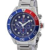 ขาย ซื้อ ออนไลน์ Seiko Solar Chronograph Diver S Men S Watch สีเงิน น้ำเงิน เเดง สายสเเตนเลส รุ่น Ssc019P1