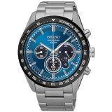 ซื้อ Seiko Solar Chronograph Men S Watch นาฬิกาข้อมือผู้ชาย สีน้ำเงิน สายสแตนเลส รุ่น Ssc465P1 Seiko ถูก