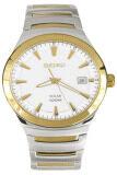 Seiko Solar นาฬิกาข้อมือผู้ชาย White Gold สายสเเตนเลส รุ่น Sne292P1 บุรีรัมย์