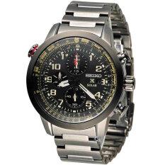 ขาย Seiko นาฬิกาข้อมือชาย Solar Prospex Sky Analog Business Watch Ssc419P1 ถูก