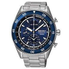 ส่วนลด Seiko Sport นาฬิกาข้อมือผู้ชาย Chronograph สีเงิน สีน้ำเงิน สายสแตนเลส รุ่น Sndg55P1