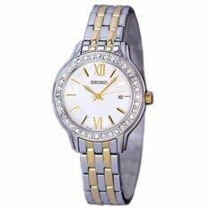 โปรโมชั่น Seiko นาฬิกาข้อมือผู้หญิง สีเงิน ทอง สายสแตนเลส รุ่น Sxdg73P1 ใน ไทย