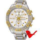 ซื้อ Seiko Diamond Velatura Chronograph เพชรแท้ 18 เม็ด นาฬิกาข้อมือ สายสแตนเลส รุ่น Sndv64P Seiko ออนไลน์