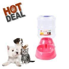 โปรโมชั่น ที่ให้น้ำอัตโนมัติสำหรับสุนัขและแมว เครื่องให้น้ำสุนัขแบบ Semi Auto เครื่องให้น้ำสัตว์เลี้ยงอัตโนมัติขนาด3 5ลิตร สีชมพู ถูก