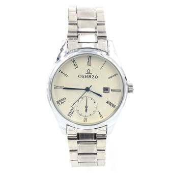 Sevenlight Date Quartz นาฬิกาข้อมือผู้ชาย ระบบวันที่  - GP9126 (Silver/ White)
