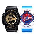 ซื้อ Sevenlight S Sport นาฬิกาข้อมือคู่ Gp9210 Black Gold Doraemon Blue ถูก Thailand