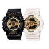 ส่วนลด Sevenlight S Sport นาฬิกาข้อมือคู่ Gp9210 Black Gold White Gold Sevenlight