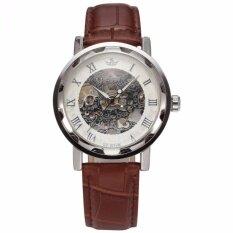 โปรโมชั่น Sewor Skeleton Stainless Steel Mechanical Transparent Leather Men Wrist Watch Pmw302 นาฬิกาข้อมือชาย แฟชั่น สปอร์ต เท่ Intl