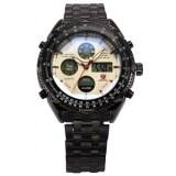 ขาย ซื้อ Shark Mens Black Date Day Alarm Led Analog Stainless Steel Quartz Wrist Stopwatch Sh116 ใน Thailand