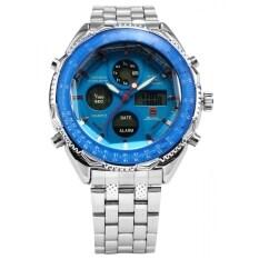ราคา Shark Men S Lcd Digital Date Day Display Stopwatch Stainless Big Dial Sport Wrist Watch Sh110 ออนไลน์ จีน