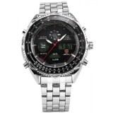 โปรโมชั่น Shark Men S Lcd Digital Date Day Display Stopwatch Stainless Big Dial Sport Wrist Watch Sh111