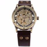 ขาย Shenhua Vintage Bronze Roman Automatic Mechanical Men S Skeleton Brown Leather Strap Wrist Watch Pmw362 นาฬิกาข้อมือชาย แฟชั่น สปอร์ต เท่ Intl ถูก จีน