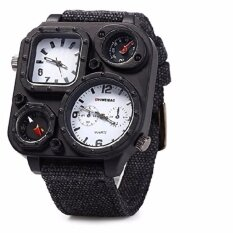 ขาย Shiweibao ผู้ชาย Dual Time Zone นาฬิกาข้อมือควอตซ์พร้อมเข็มทิศสีขาว Shiweibao ใน สมุทรปราการ