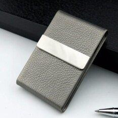 ราคา Shop Jung กล่องใส่บุหรี่ โลหะหุ้มหนัง 2 In 1 Cigar Holder Storage รุ่น 000398 Black