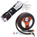 ราคา Shop108 Flashlight Multi Tool ไฟฉายฉุกเฉินติดรถ Air Compressor ปั๊มเติมลมยางล้อรถยนต์ฉุกเฉิน ออนไลน์