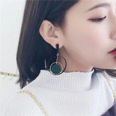 ขาย Silent Flower Women Elegant Ring Earrings Tassel Handmade Ear Jewelry Fashion New Style Drop Earrings Green Intl ถูก จีน