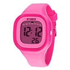 ขาย ซิลิโคนแบบไฟ Led นาฬิกาข้อมือเด็กเด็กหญิงกีฬาลูกผู้ชายสีชมพู Unbranded Generic ผู้ค้าส่ง
