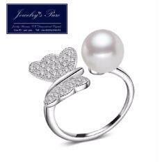 ขาย ซื้อ ออนไลน์ แหวนไข่มุกแท้ Silver 92 5 ฟรีไซส์ ปรับได้ 1 2 ระดับ สีเงิน