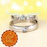 โปรโมชั่น แหวนคู่รัก แหวนเงินแท้ลายหงส์ แหวนเงินแท้จุดเพชรตรงกลาง แหวนคู่ Silver 92 5 Gql006 ใน กรุงเทพมหานคร