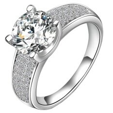 เงินแฟชั่นผู้หญิง Rose Gold ทองงานแต่งงานแหวนหมั้นผู้หญิง สนามบินนานาชาติ ใน ฮ่องกง
