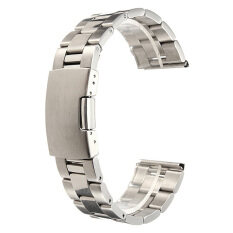 ขาย Silver Stainless Steel Watch Band Strap Straight End Bracelet Link 24Mm ออนไลน์