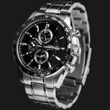 โปรโมชั่น Simplehome Skmei 980 Three Young Men Six Pin Calendar Quartz Watch Stainless Steel Business Black Intl จีน