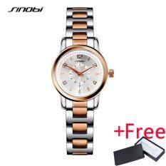 Sinobi Fashioh Women Wrist Watches Golden Watchband Top Brand Luxury Ladies Quartz Clock Female Bracelet Watch Montres Femmes 8126 ใน จีน