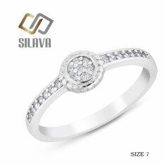 ขาย Sivala Jewelry แหวนเงิน ประดับเพชรสวิส Cz No 10 สีขาวสวยเป็นประกายดุจเพชรแท้ Size 7