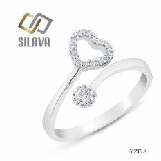 ขาย ซื้อ Sivala Jewelry แหวนเงิน ประดับเพชรสวิส Cz No 4 รูปหัวใจ สีขาวสวยเป็นประกายดุจเพชรแท้ Size 8 ใน กรุงเทพมหานคร