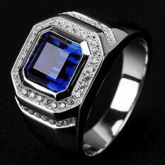 ขาย ขนาด 8 ถึง 15 เครื่องประดับแซฟไฟร์ โกเมน 10Kt ผู้ชายแหวนชุบทองงานแต่งงานของขวัญ 00018 นานาชาติ ถูก
