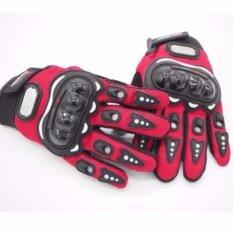 ซื้อ ถุงมือมอเตอร์ไซค์ ถุงมือขี่มอเตอร์ไซค์ ถุงมือหนัง เต็มนิ้ว Size L Red Unbranded Generic ออนไลน์