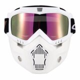 Ski Bike Motorcycle Face Mask Goggles Motocross Motorbike Motor Open Face Detachable Goggle Helmets Vintage Glasses Intl ใน จีน