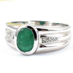 ซื้อ Skjewelryfactory Er00432 Emr แหวนเงินแท้ 92 5 ฝังพลอยมรกตแท้ Thailand