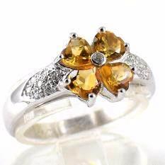 ซื้อ Skjewelryfactory Er00874 Cit แหวนเงินแท้ฝังพลอยซิทรินแท้และเพชร ออนไลน์ กรุงเทพมหานคร