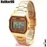 ขาย Skmai Watch นาฬิกาข้อมือผู้ชาย ผู้หญิงและเด็ก ทรงสี่เหลี่ยม สายเหล็ก Rose Gold ระบบดิจิตอล Unbranded Generic